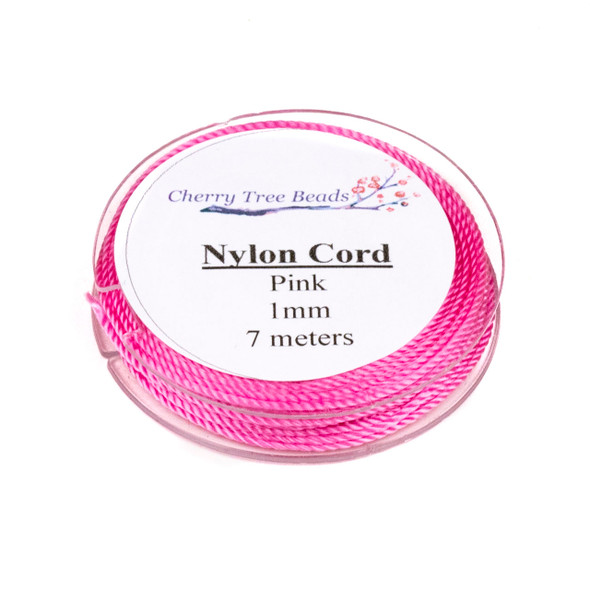 Nylon Cord - Pink, 1mm, 7 meter spool