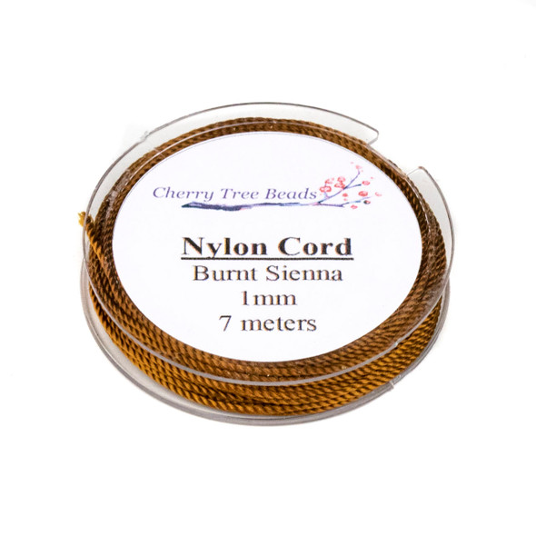 Nylon Cord - Burnt Sienna, 1mm, 7 meter spool