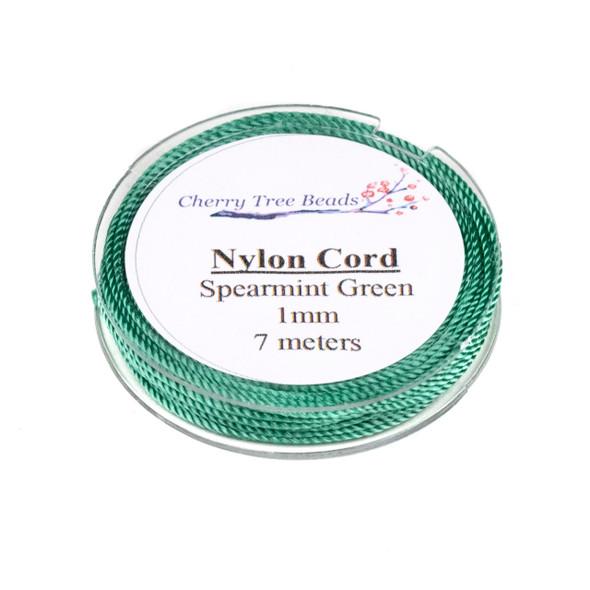 Nylon Cord - Spearmint Green, 1mm, 7 meter spool