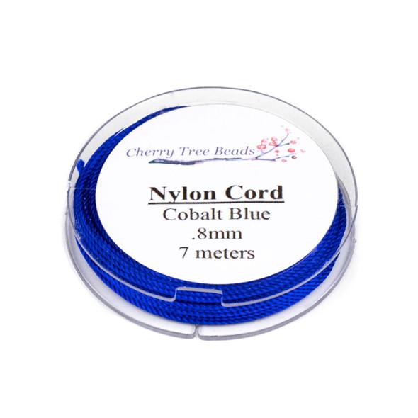 Nylon Cord - Cobalt Blue, .8mm, 7 meter spool