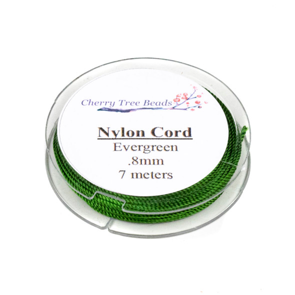 Nylon Cord - Evergreen , .8mm, 7 meter spool