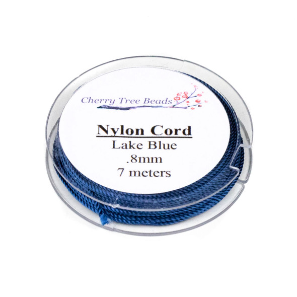 Nylon Cord - Lake Blue, .8mm, 7 meter spool