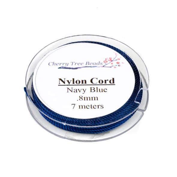Nylon Cord - Navy Blue, .8mm, 7 meter spool