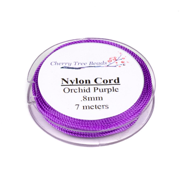 Nylon Cord - Orchid Purple, .8mm, 7 meter spool