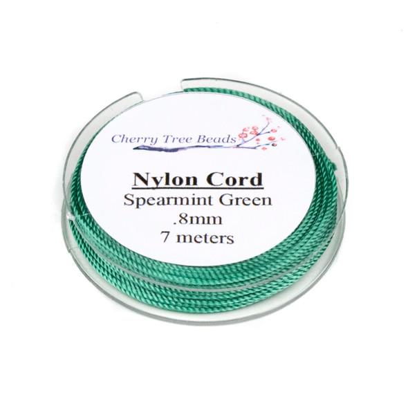 Nylon Cord - Spearmint Green, .8mm, 7 meter spool