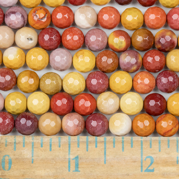 Mookaite Faceted 8mm Round Beads - approx. 8 inch strand, Set B