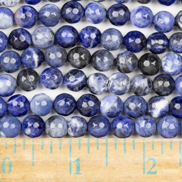 Sodalite Faceted 8mm Round Beads - approx. 8 inch strand, Set B