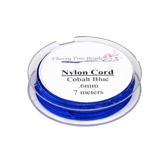 Nylon Cord - Cobalt Blue, .6mm, 7 meter spool