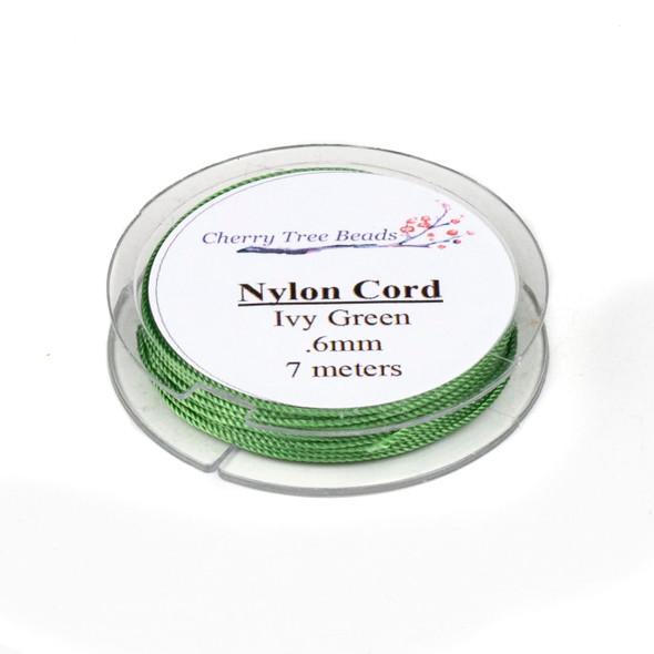 Nylon Cord - Ivy Green, .6mm, 7 meter spool