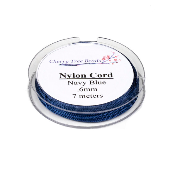 Nylon Cord - Navy Blue, .6mm, 7 meter spool