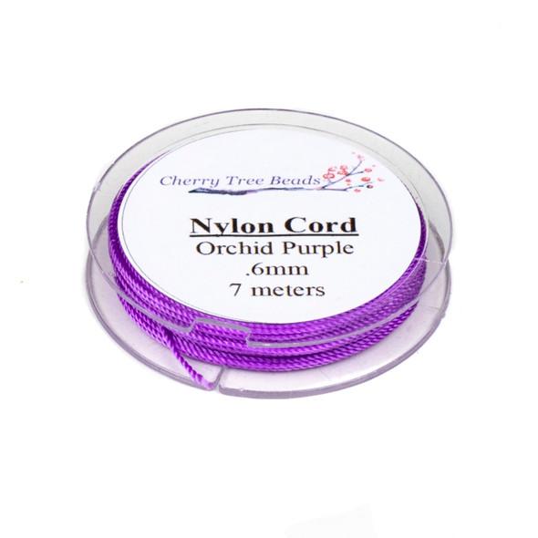 Nylon Cord - Orchid Purple, .6mm, 7 meter spool