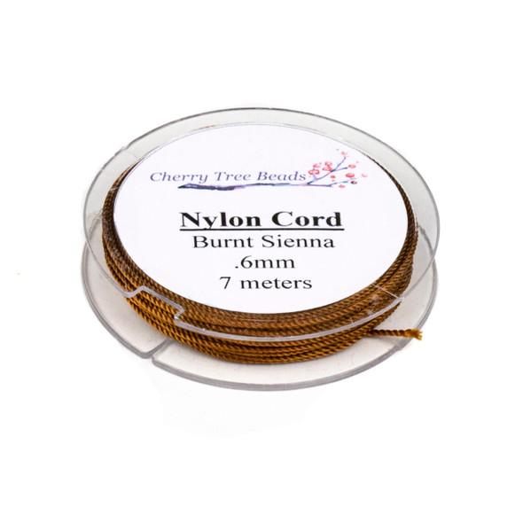Nylon Cord - Burnt Sienna, .6mm, 7 meter spool