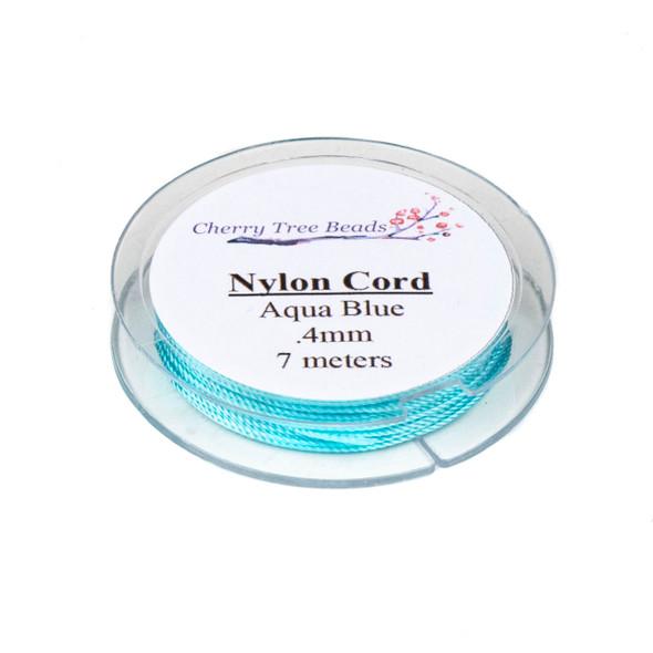 Nylon Cord - Aqua Blue, .4mm, 7 meter spool