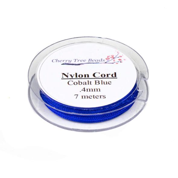 Nylon Cord - Cobalt Blue, .4mm, 7 meter spool