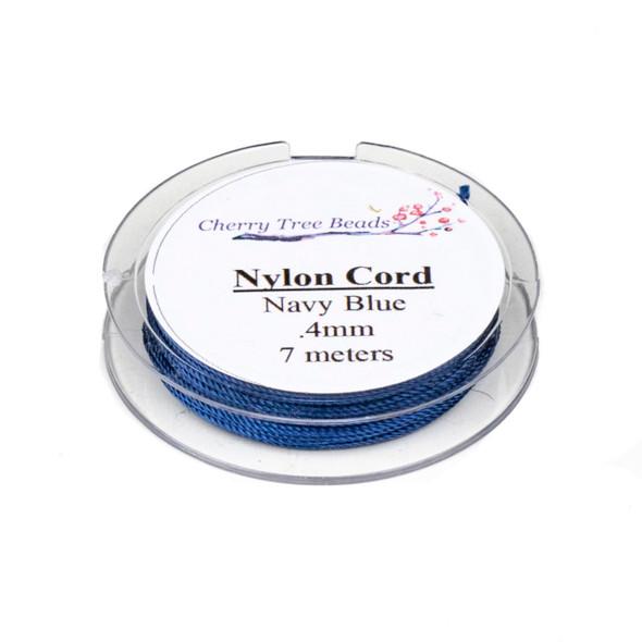 Nylon Cord - Navy Blue, .4mm, 7 meter spool