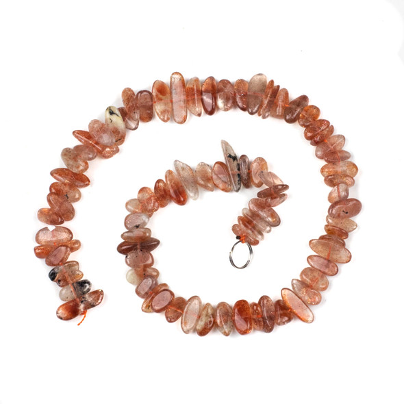 Sunstone 6x13-16mm Nugget Beads - 15 inch strand