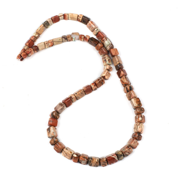 Cappuccino Jasper 4x6-8x13mm Trillion Beads - 16 inch strand