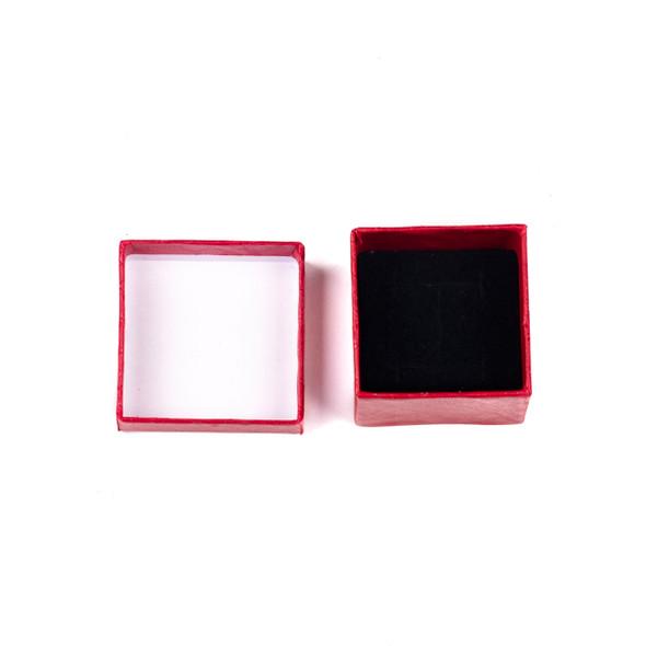 """Jewelry Gift Box - Red Ring Box, 2x2"""""""