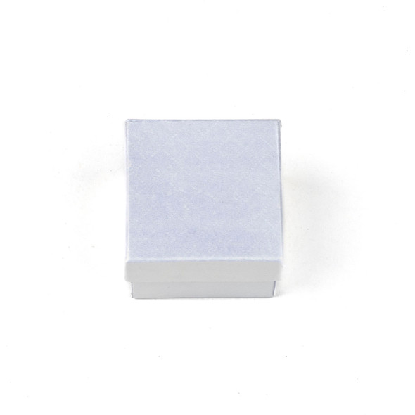 Jewelry Gift Box - Iridescent White Ring Box, 2x2""
