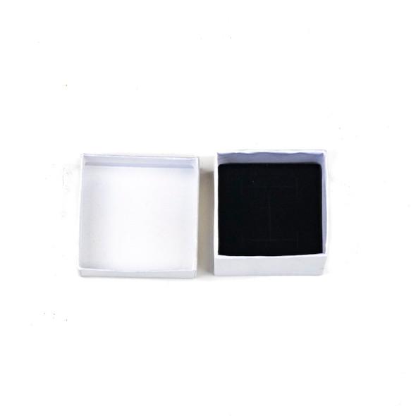 """Jewelry Gift Box - Iridescent White Ring Box, 2x2"""""""
