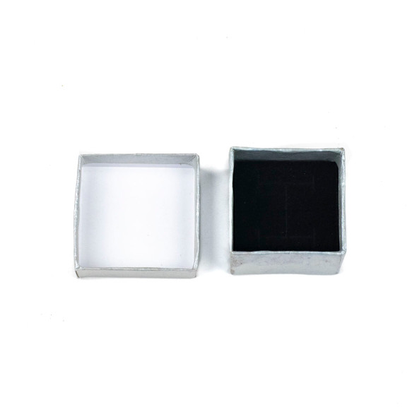 Jewelry Gift Box - Silver Ring Box, 2x2""