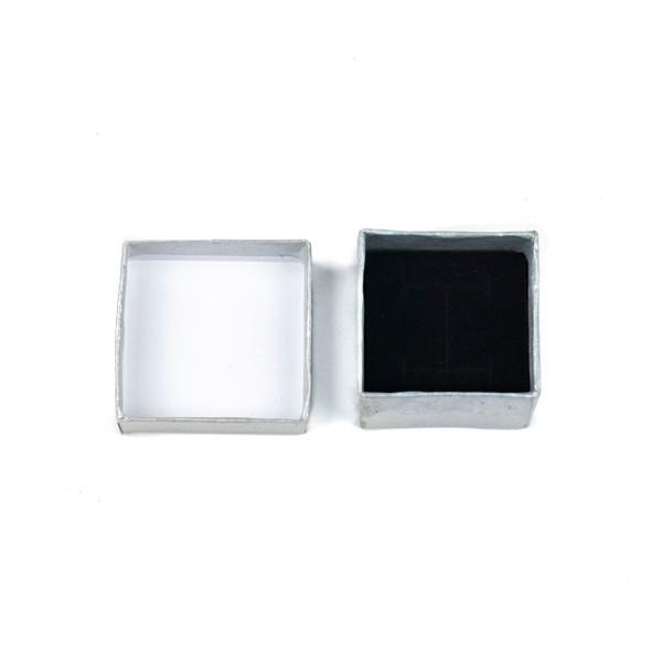 "Jewelry Gift Box - Silver Ring Box, 2x2"""