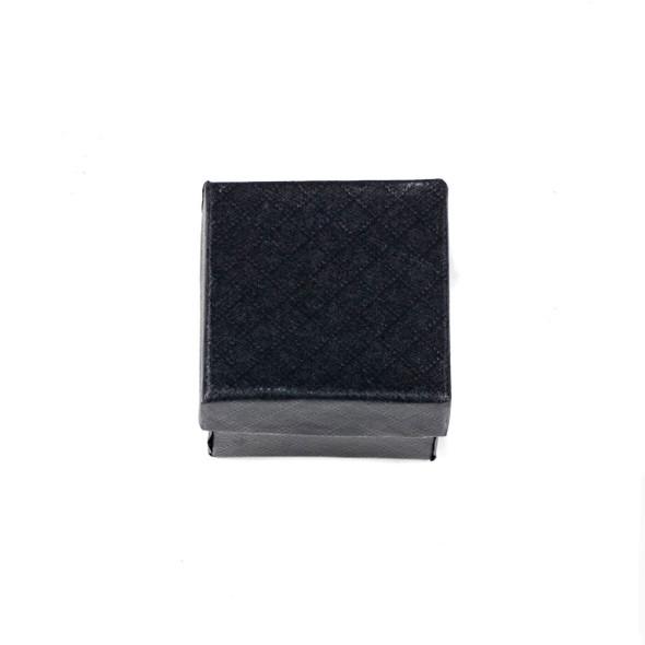 "Jewelry Gift Box - Black Ring Box, 2x2"""