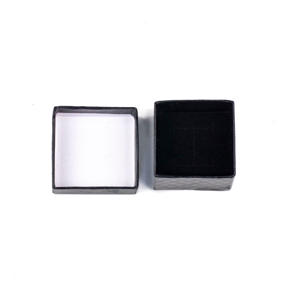 Jewelry Gift Box - Black Ring Box, 2x2""
