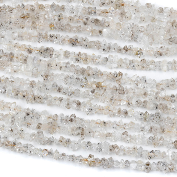 Herkimer Diamond 3-6mm Tiny Chip Beads - 14 inch strand
