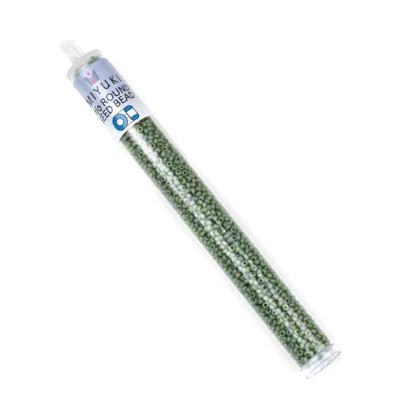 Miyuki 11/0 Round Seed Beads - Frost Opaque Glaze Rainbow Kiwi, #11-94698-TB, approx. 24 gram tube
