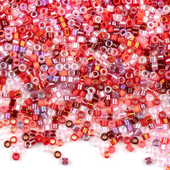 Miyuki 11/0 Strawberry Mix Delica Seed Beads - #MIX05, 7.2 gram tube