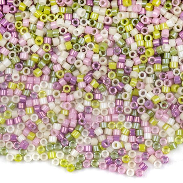 Miyuki 11/0 Antique Roses Mix Delica Seed Beads - #MIX9024, 7.2 gram tube