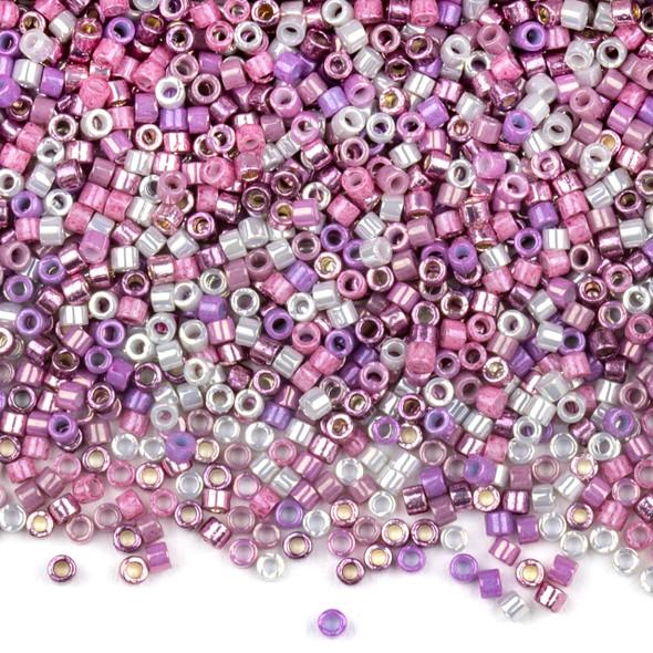 Miyuki 11/0 Pretty Princess Mix Delica Seed Beads - #MIX9021, 7.2 gram tube