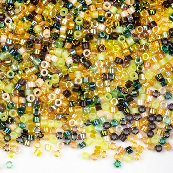 Miyuki 11/0 Earthtone Mix Delica Seed Beads - #MIX07, 7.2 gram tube