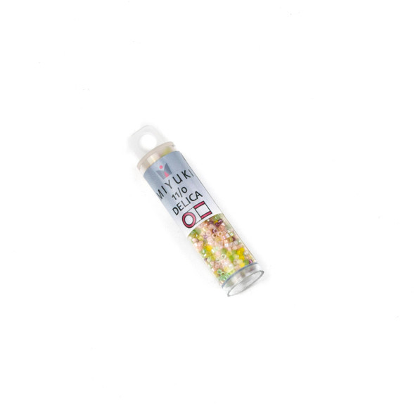 Miyuki 11/0 Pink Lemonade Mix Delica Seed Beads - #MIX09, 7.2 gram tube