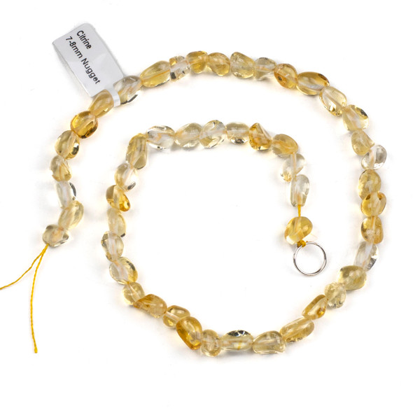 Citrine 7-8mm Nugget Beads - 15 inch strand