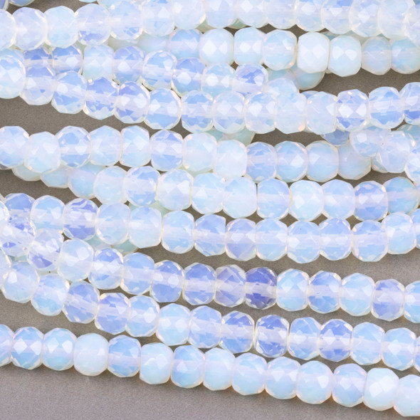 Synthetic Opaline 5x7mm Tire/Rondelle Beads - 15 inch strand