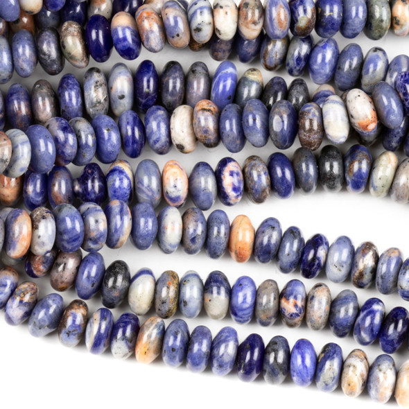 Sodalite 4x8mm Rondelle Beads - 16 inch strand