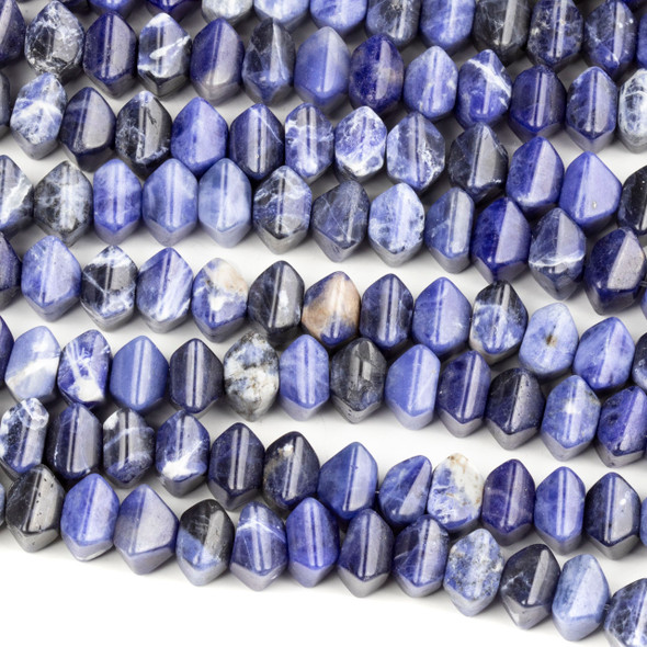 Sodalite 6x8mm Cushion Beads - 16 inch strand