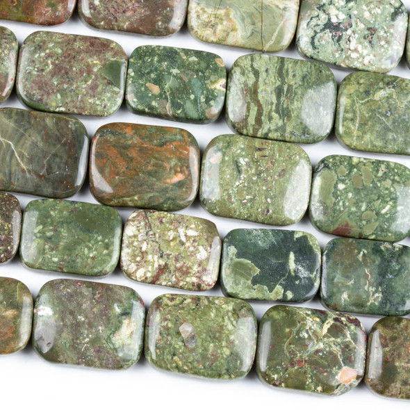 Rhyolite 15x19mm Rectangle Beads - 15.5 inch strand