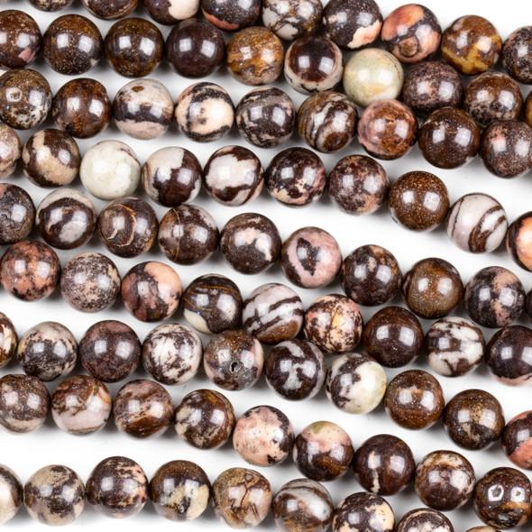 Australian Outback Jasper 10mm Round Beads - 8 inch strand