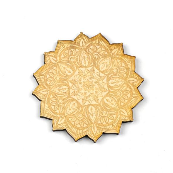 Mandala Crystal Grid #16 - 4 inch, Birch Wood