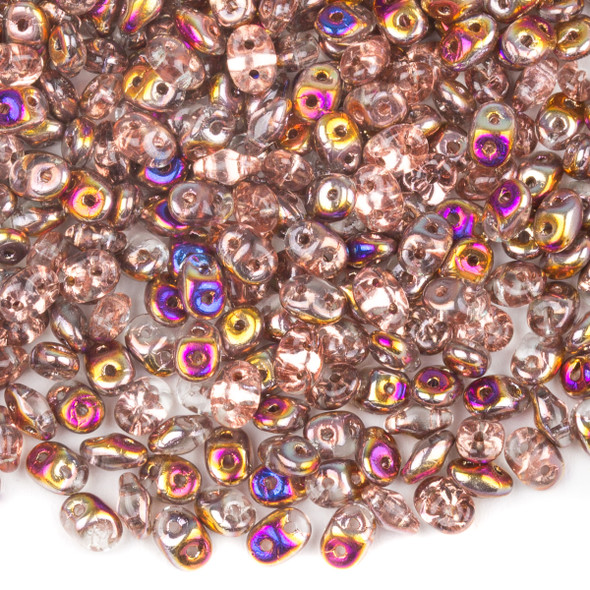 Matubo Czech Glass Superduo 2.5x5mm Seed Beads - Crystal Sliperit, #0500030-29500-TB, approx. 22 gram tube
