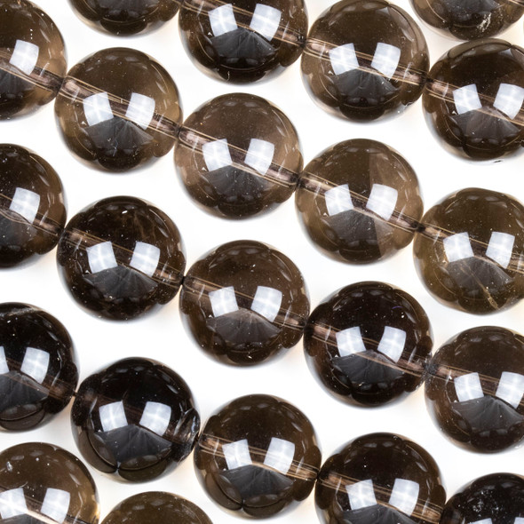Smoky Quartz 16mm Round Beads - 17 inch strand