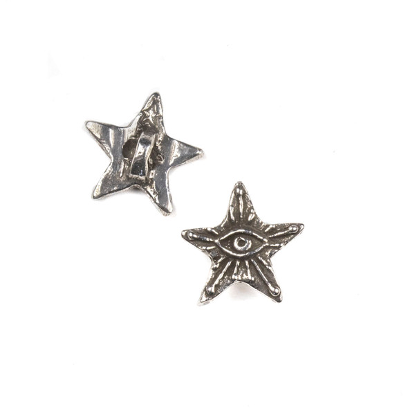 Green Girl Studios Pewter 15mm Star Eye Button - 1 per bag