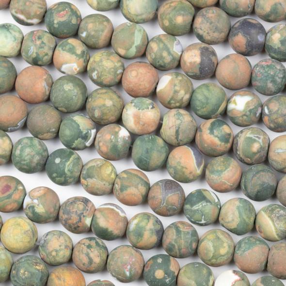 Matte Rhyolite 8mm Round Beads - 15 inch strand
