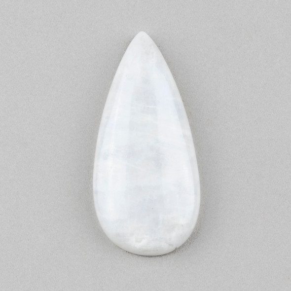 Moonstone 20x40mm Teardrop Cabochon - 1 per bag