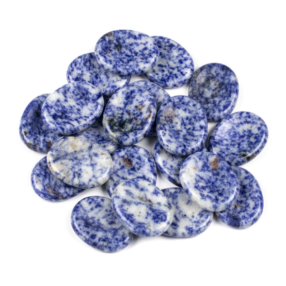 Blue Spot Jasper Worry Stone - 1 per bag