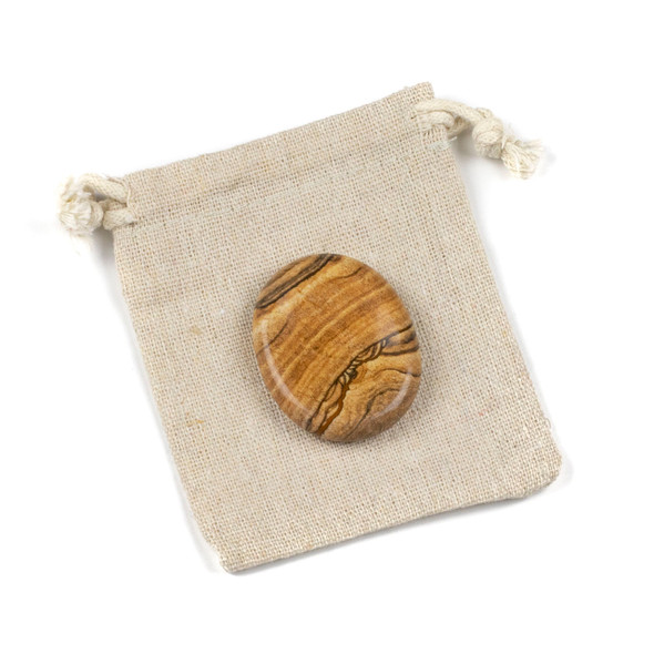 Picture Jasper Worry Stone - 1 per bag