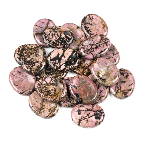 Rhodonite Worry Stone - 1 per bag